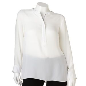 APT9 long sleeve light zipper dress shirt  blouse